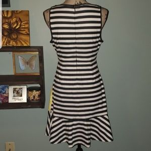 Elle Dresses - New Elle Lemon Striped Flounce Hem Dress